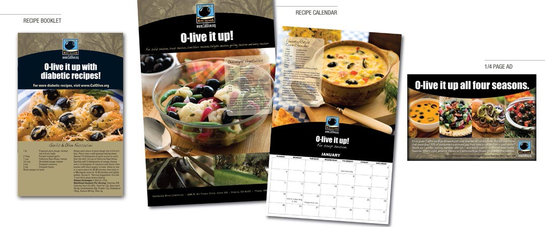 Recipe Booklet, Recipe Calendar, and 1/4 Page Ad