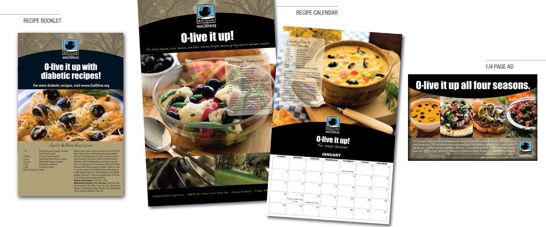 Recipe Booklet, Recipe Calendar, and 1/4 Page Ad