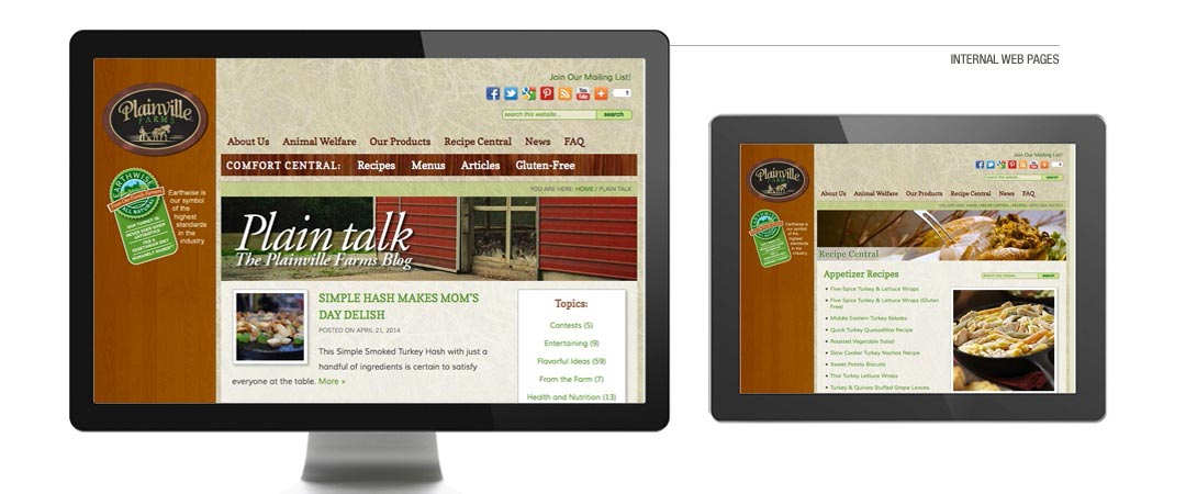 Internal Web Pages